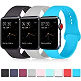 Pack 3 Compatible with Apple Watch Band 40mm Series 4, Soft Silicone Band Compatible iWatch Ser…