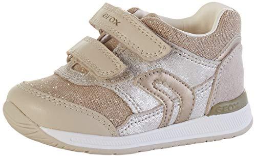 Geox Baby Mädchen B RISHON Girl A Sneaker, Beige (Beige/Gold C0871), 25 EU