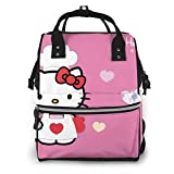 Mochila para pañales - Hello Kitty Party multifunción impermeable mochila de viaje maternidad pañales cambiantes bolsas