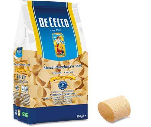 10x Pasta De Cecco 100% Italienisch mezzi paccheri n. 225 Nudeln 500g