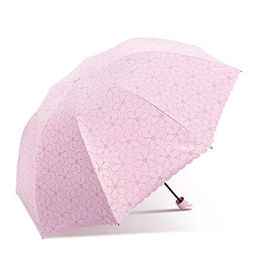 Paraguas de Viaje portátil, Paraguas de Sol, protección para Sol y Lluvia, Paraguas de protección UV Unisex