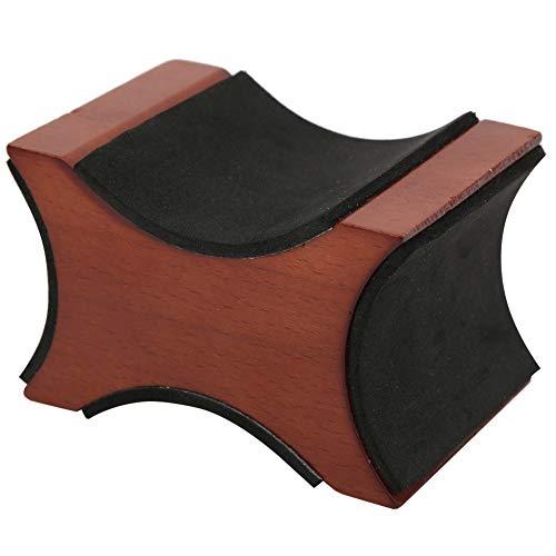 frenma Soporte para reposacabezas de bajo, Accesorios de Escritorio Soporte para reposacabezas de Guitarra de Caoba, Universal para Limpiar Ukelele de mandolina Banjo