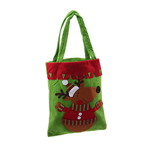Botreelife Weihnachtsdekorationen Kinder Geschenk Candy Bag Aufkleber Einkaufstasche,Elch
