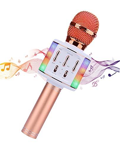 ShinePick Karaoke Kabelloses Mikrofon, Tragbares Bluetooth Mikrofon mit...