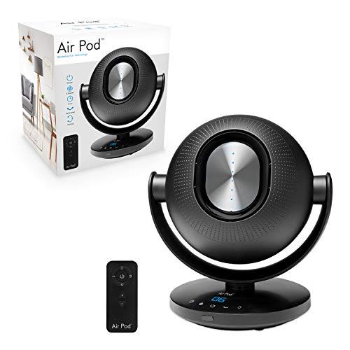 Air Pod 40029 - Ventilador oscilante sin aspas, 6 velocidades de aire, control remoto sensible al tacto, negro, 36 x 26 x 26 cm