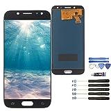 YWL-OU Reemplazo de Pantalla para Samsung Galaxy J5 (2017) J530 SM-J530F LCD Display Digitalizador de Pantalla táctil +con un Conjunto de Herramientas (Negro)