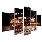 islandburner Bild Bilder auf Leinwand 5 teilig Whiskey