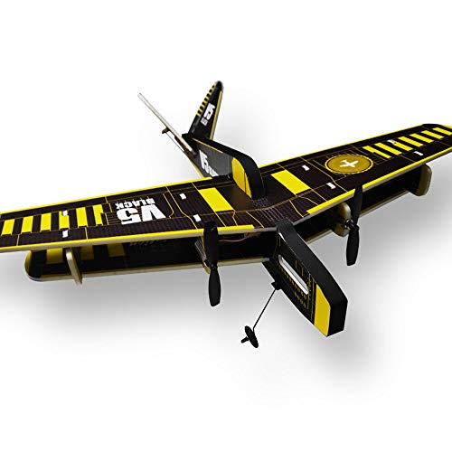 Weaston Avión de Control Remoto Hecho a Mano, avión RC de ala Fija, Modelo de Competencia de avión, Caza RC Profesional, Adecuado para Principiantes, Regalos de Juguete para niños