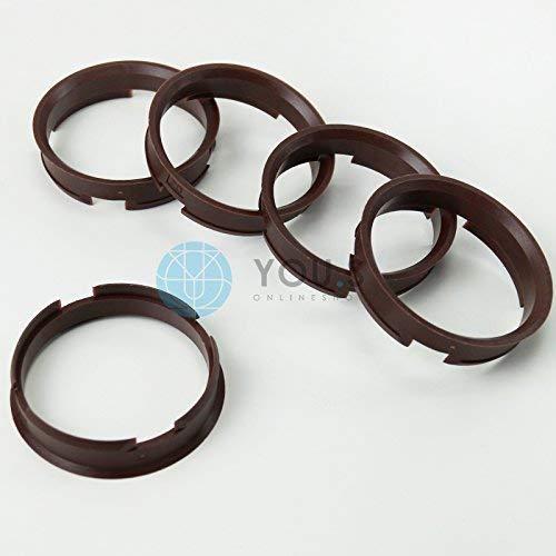 4 anelli anelli di centraggio distanza 72,6-57,1 AUDI VW SEAT SKODA RC Brock Keskin z19d