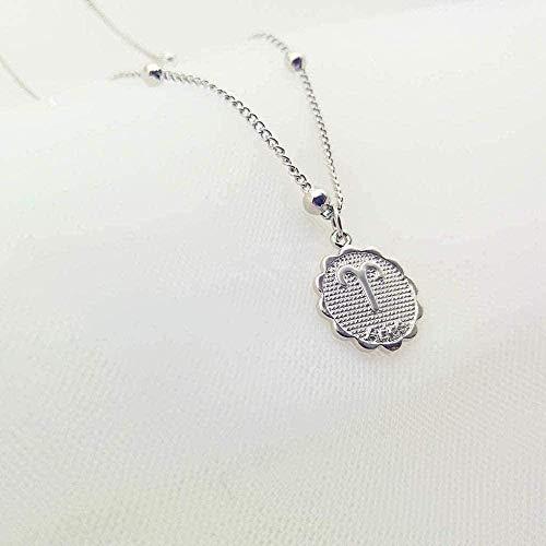 NC188 Collar de 12 Constelaciones, Collar con Colgante de Cuentas, Collar con Signo del Zodiaco de Cobre, Collar de horóscopo, joyería para Mujer