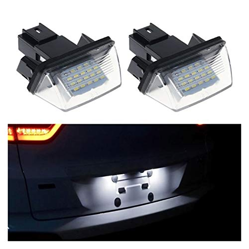 DAXINYANG Colorful Linght 1 par 18 LED Licenciadas Lámpara Luces Lámpara Fit para Peugeot 206 207 307 308 406 Citroen C3 / C4 / C5 / C6