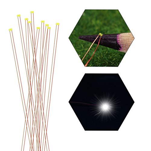 Evemodel 10Stk. vorgelötet Micro Kupfer Verdrahtet SMD Led Weiß Kabel Lampe 0201 C0201W-10-EU