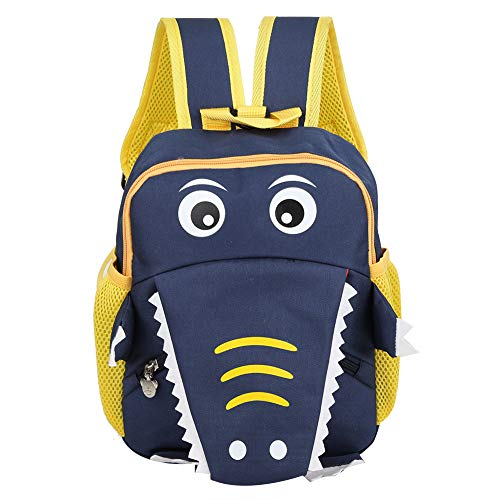 YIFengFurun Mochila para niños de dibujos animados pequeño cocodrilo kindergarten mochila de viaje