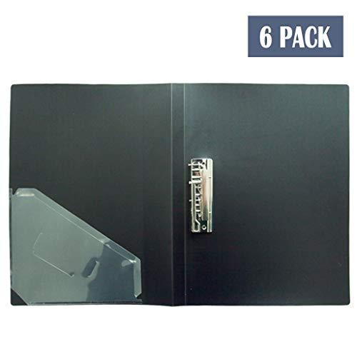 Zwischenablage Profil Clip Ordner Datei Cover Ordner Büro Konferenz Schule Papier Tablet PP Datei Zwischenablage A4 Größe 6er Pack (Color : Black-a)