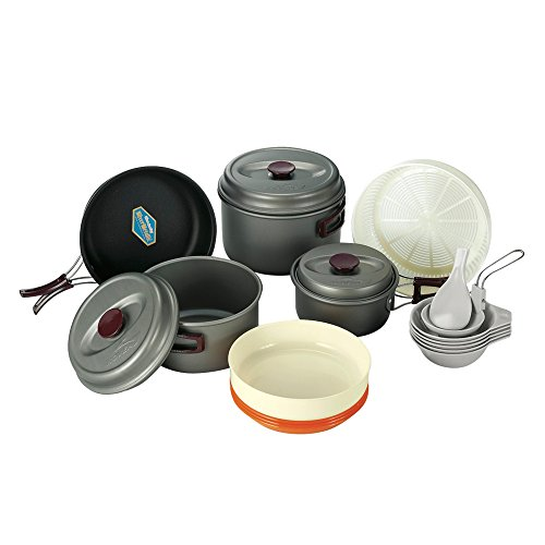 Kovea Hard 56 Camping Cookware Cookset Portable Cookware Hard Anodizing Coating KSK-WH56