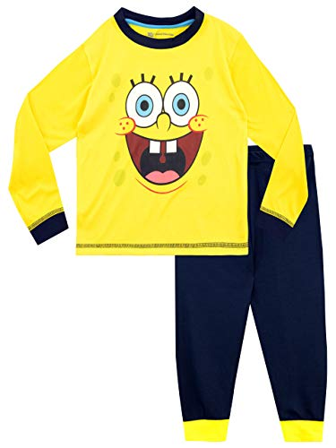 Spongebob Schwammkopf Jungen Sponge Bob Squarepants Schlafanzug Gelb 134
