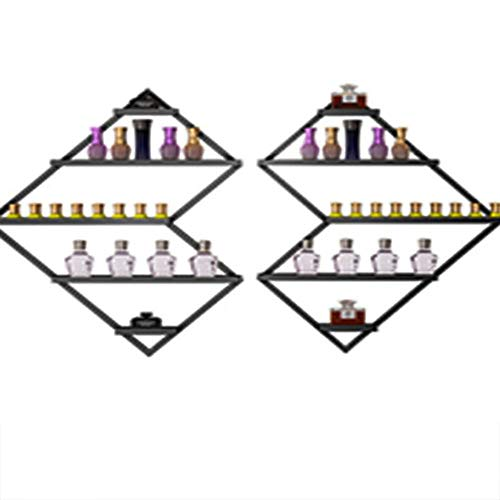 household products Mehrseitige rhombische Nail Art Wanddekoration Wandbehang Rack, Salon Metall Nagellack Rack, Parfüm, Kosmetik, ätherische Öl Display Lagerregal