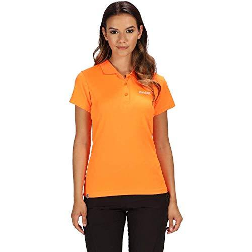 Regatta Damen Maverick Iv Active Poloshirt, schnelltrocknend XL Shocking Orange