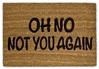 HANGIT Felpudo de entrada de fibra de coco con reverso de látex, 40 x 60 cm, color marrón, para puerta principal, dormitorio, tienda, oficina, entrada, hogar