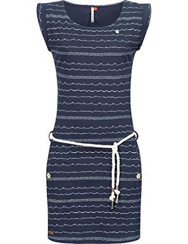 Ragwear Damen Kleid Dress Sommerkleid Strandkleid Jerseykleid Freizeitkleid Tag Waves Navy20 Gr. S