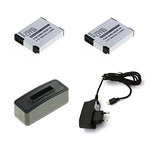 bg-akku24 2 Stück Akku, Ladegerät und Netzteil für Panasonic Lumix DMC-FT5, DC-FT7, DMC-TZ41, DMC-TZ55, DMC-TZ56, DMC-TZ57, DMC-TZ58, DMC-TZ60, DMC-TZ61, DMC-TZ70, DMC-TZ71 - DMW-BCM13E, DMW-BCM13