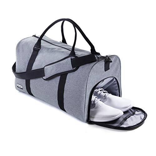 The Weekender Duffel Bag - Travel Bag/Duffle Bag - BONUS Lost & Found ID (Gray)