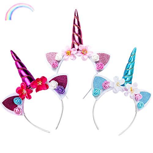 Sunshine smile Diadema Unicornio,Vendas del Unicornio,Unicornio Vendas,Diadema Unicornio Mujer,Diadema Unicornio Bebe,Decoracion Unicornio para Cumpleaños Fiesta Unicornio Cosplay (3)