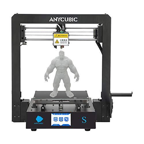 ANYCUBIC MEGA-S 3D Drucker für Baugröße 210 x 210 x 205mm, neuem Extruder, Stabilen Vollmetall-Rahmen und Ultrabase Heizbett für 1,75 mm Filamente TPU, PLA, ABS (Mega S)