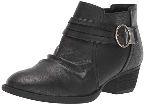 Dr. Scholl's Shoes Women's Jenna Ankle Boot, Black Smooth, 11 M US