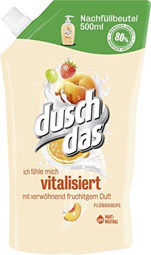 Duschdas Flüssigseife Fruit & Creamy Nachfüllbeutel, 1 x 500 ml