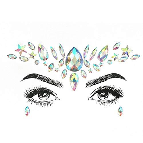 Koojawind Body Stickers- Visage Gems AdhéSif Glitter Jewel Tattoo Festival Du Mariage Party Party Rave Make Up Body, Porter Pour Festivals FêTes à ThèMe Halloween - Simplement Peel And Stick