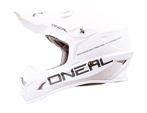 O'NEAL 3 Series Motocross Enduro MTB Helm Flat weiß/schwarz 2018 Oneal: Größe: M (57-58cm)