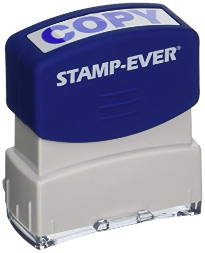 Stamp-Ever Pre-Inked Message Stamp, Copy, Stamp Impression Size: 9/16 x 1-11/16 Inches, Blue (5945)