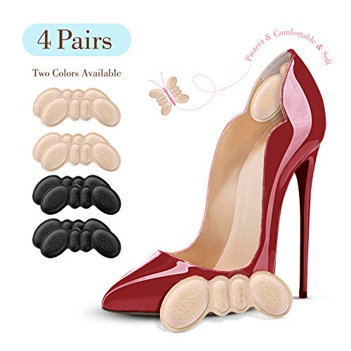 Famel Heel Grips - Heel Pads for Women and Men's Shoes - Reusable Heel Cushion Inserts for Loose Shoes (Pack...