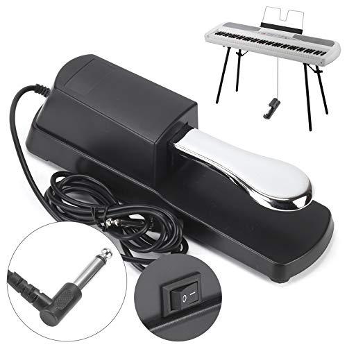 BALLSHOP Sustain Pedal für digitales elektronisches Klavier, E-Piano und Keyboard, Schwarz