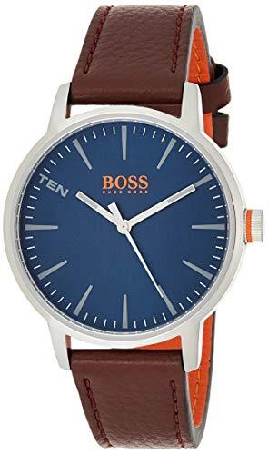 Hugo Boss Orange Herren-Armbanduhr Quarz mit Leder Armband 1550057