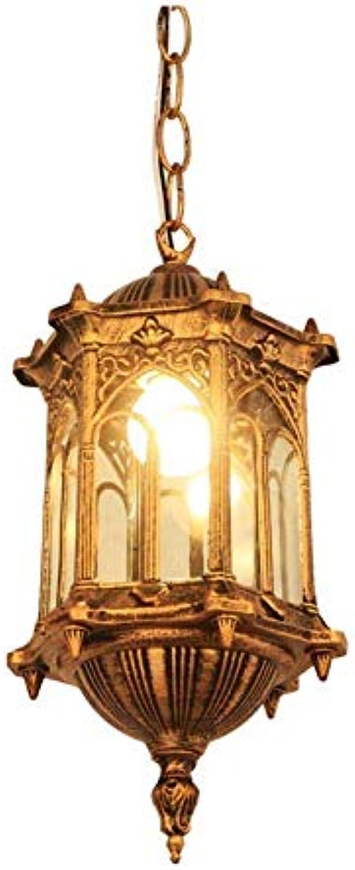 Retro Modernes Licht Balkon Wasserdichte Gartenlampe Dekorative Kronleuchter Led Wandleuchte, Gold [Energieklasse A +++]