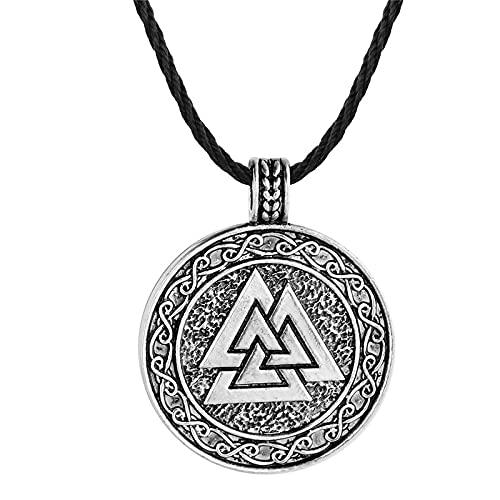 ShZyywrl Collar De Joyas Regalos para Aniversario Cumpleaños De La Madre Collar Collar con Colgante De Amuleto Cuadrado De Noruega ESL