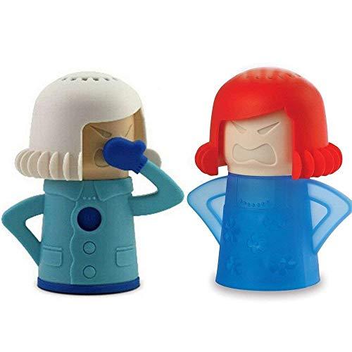 HanDingSM Pulitore per microonde Angry Mom e Fridge Odor Absorber Cool Mom per la pulizia della cucina domestica Disinfetta con aceto e acqua