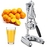 Kitchen Professional Citrus Juicer - Metal Lemon Squeezer - Extra Tall Heavy Duty Manual Orange Juicer and Lime Squeezer Press Stand - Manual Citrus Press and Orange Squeezer (Mirror Finish)