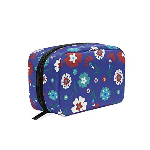 LORONA Turkse Tegels Bloemen Patroon Cosmetische Pouch Koppeling Make-up Bag Travel Organizer Case Toilettas voor Vrouwen