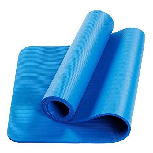 LANJIA Esterilla de Yoga para Ejercicios, Espuma para Ejercicios, Extra Gruesa, Antideslizante, Grande, Acolchada, de Alta Densidad para Pilates, Gimnasia, Estiramiento