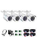 Best Cctv Cameras - ZOSI 4 Pack 2MP 1080p HD-TVI Home Security Review