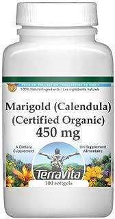 Marigold (Calendula) (Certified Organic) - 450 mg (100 Capsules, ZIN: 517744)