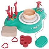 Premium Pottery Wheel Studio for Beginners - DIY Crafts Kits, Hobby Kit for Kids Teens & Adults. All-in-One Powerful Motor, Durable Machine, Pressure-Sensitive Foot Pedal. Craft Gift for Girls & Women
