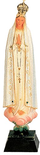 Ferrari & Arrighetti Imagen de la Virgen de Fátima de 23 cm Pintada a Mano y embellecida con Strass