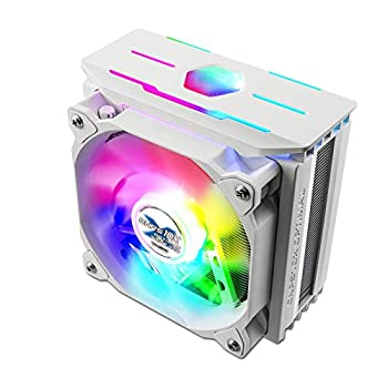 Zalman CNPS 10x Optima II RGB LED Fan White CPU Cooler Patented Corrugated Fin Design Quiet 120mm RGB Fan for Intel & AMD Ready  White