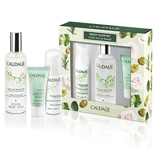 CAUDALIE Beauty Elixir 100 ml + Instant-Schaum-Reiniger 50 ml + Vinolure-Mattierungsflüssigkeit 15 ml Geschenkset