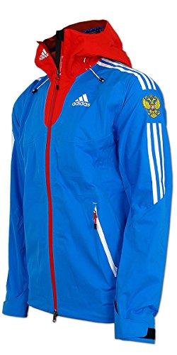 adidas Damen Goretex Regen Jacke Team Russia (38, blau-rot)