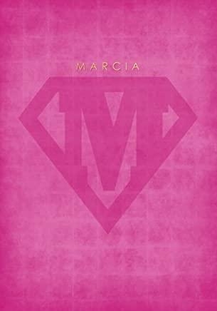 Personalized Name Notebook for MARCIA with Superhero Logo Cover (Pink): A Cute Lined Journal / Composition Book for Women and Teen Girls (7x10 Inches)